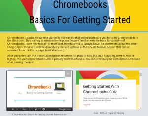 Chromebooks Basics Training Module- Screenshot