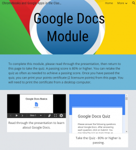 Google Docs Module - Screenshot