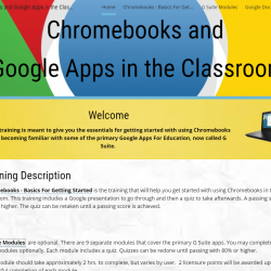 Chromebooks in the Classroom Online Training