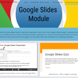 Now Open: Google Slides Basics Online Module
