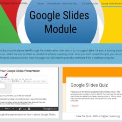 Google Slides Module - Screenshot