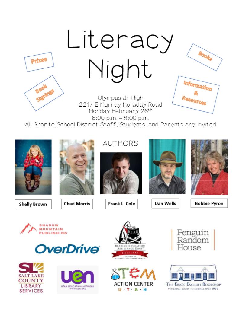 Upcoming Event: Granite Literacy Night