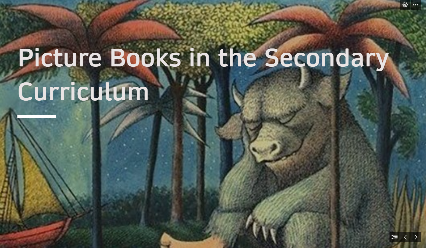 Presentation: Teaching with Picture Books in Secondary Schools