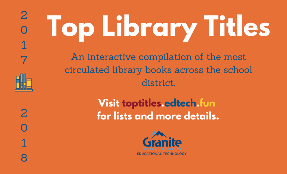 2017-2018 Top Circulating Library Titles in Granite School District