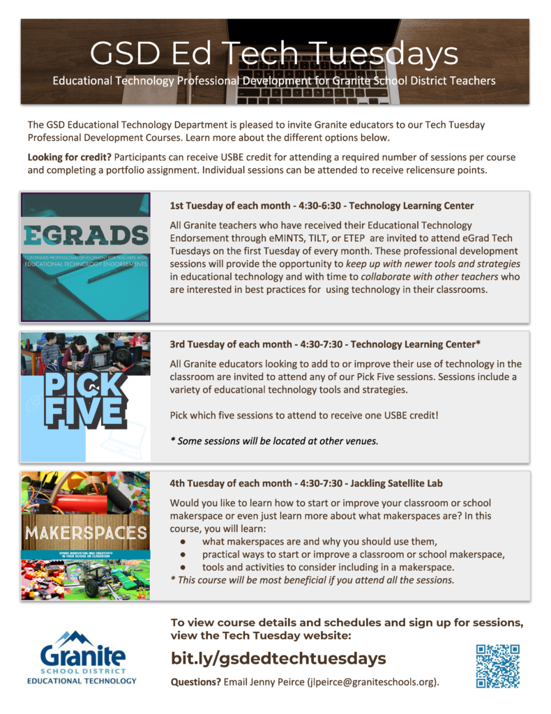 Tech Tuesday Flyer 2018-2019