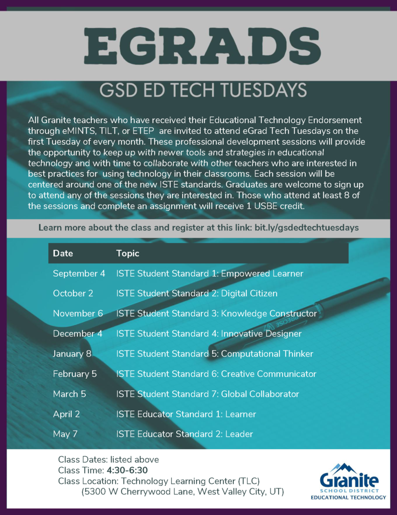 Tech Tuesday Flyer 2018-2019 - Egrads