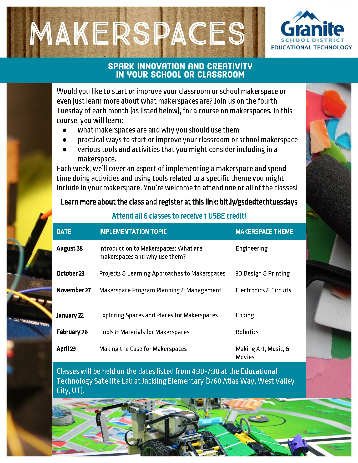 Tech Tuesday Flyer 2018-2019 - Makerspaces