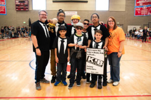 2nd Place Champion's Award Trophy - Kids in Black (Moss Elementary)