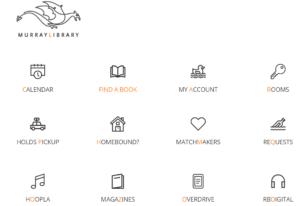 Murray Library Web Page - Screenshot