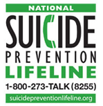 Nation Suicide Prevention Lifeline graphic with phone number, 1 800 273 8255